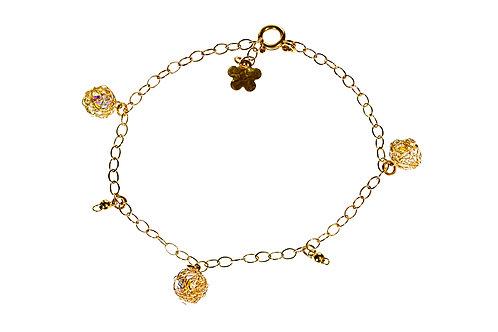 Wired bracelet Swarovski balls