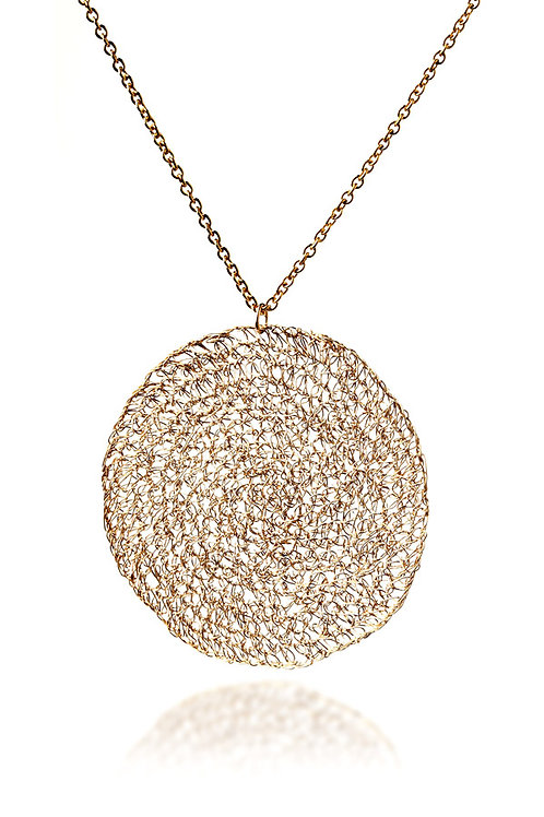 Mesh circle  2 cm necklace
