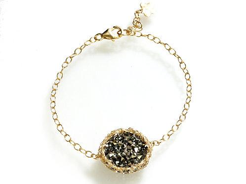 Mesh Swarovski crystal beads bracelet
