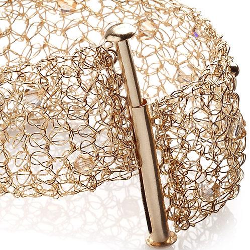Mesh 5 rows & Swarovski beads  bracelet