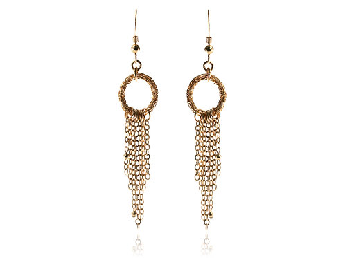 Wired circlees and tassels earring