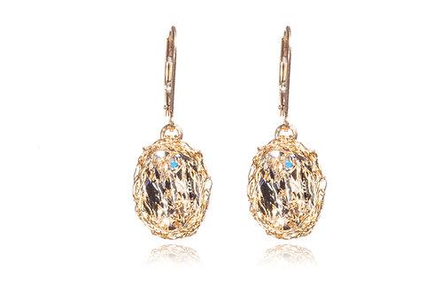 Mesh Swarovski crystal earring