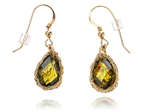 CZ  drop hanging earring