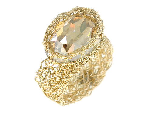 Mesh Swarovski crystal Ring