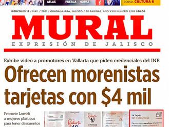 Lleva el Miado Michel a Vallarta a la Primera Plana de MURAL ¡Por Delincuente Electoral!