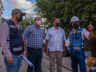Supervisa Luis Michel obras en zonas afectadas por el huracán