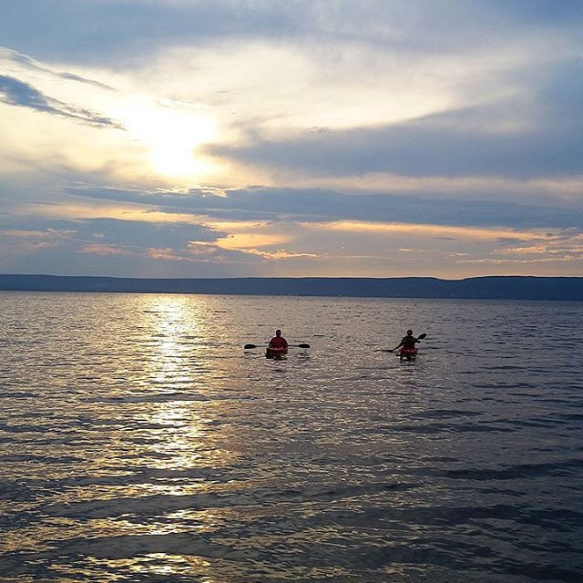 Sunset Kayak #adventure #novascotia #sun