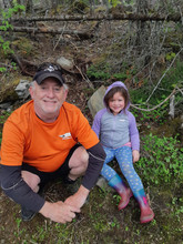Granddad and Abigail on adventure in Bea