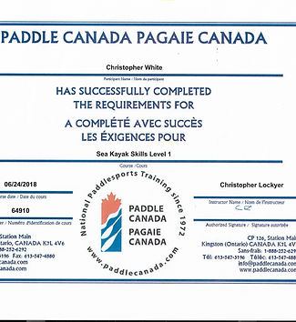 Level 1 Paddle Canada Certification June