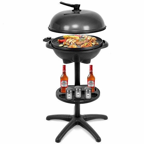 1350 W Outdoor Electric BBQ Grill with Removable Stand