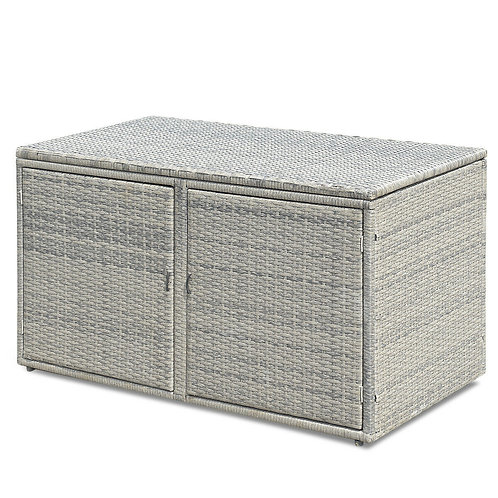88 Gallon Garden Patio Rattan Storage Container Box