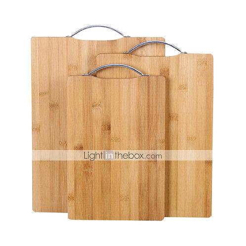 1PC Natural Bamboo Cutting Board For Wood Kitchen Non-slip Chopping Board