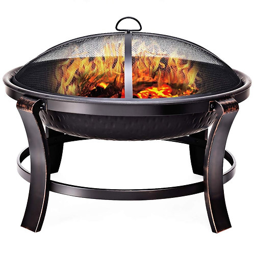 "30"" Outdoor Fire Pit BBQ Portable Camping Firepit Heater"