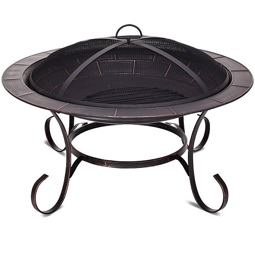 "30"" Outdoor Fire Pit BBQ Camping Firepit Heater"