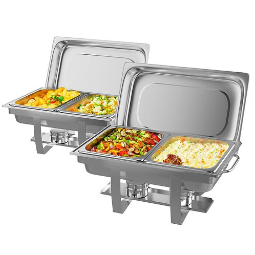 2 Packs Stainless Steel Full Size Chafing Dish