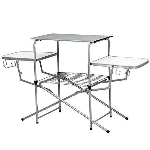 Foldable Outdoor BBQ Table Grilling Stand