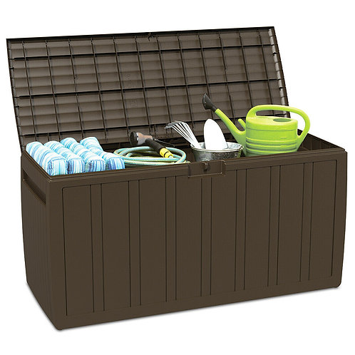 80 Gallon Plastic Deck Storage Box Tool Box Patio Storage Container