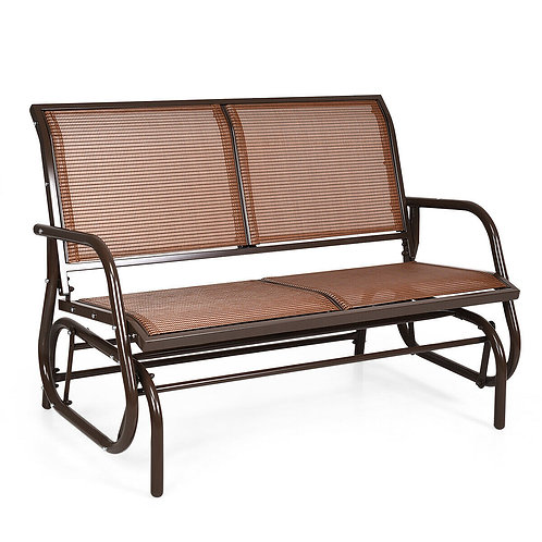 """Swing Glider Chair 48"""" Loveseat Rocker Lounge Backyard"""
