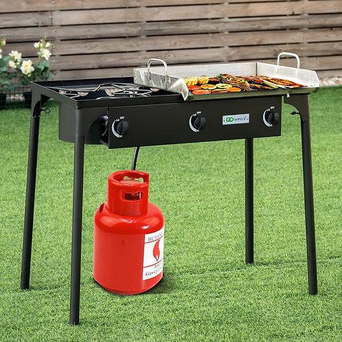 225,000-BTU Portable Propane 3 Burner Gas Cooker