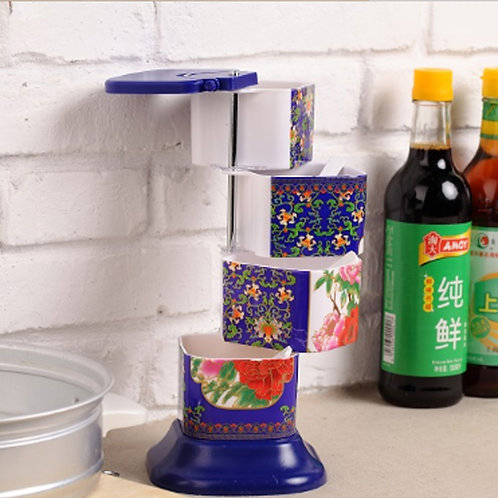 Spice Jars/ Four Tier Organizer/ Spice Rack / Seasoning Storage