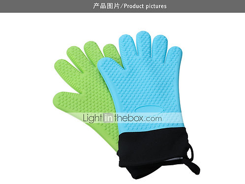 2PCS Gloves Anti-Hot High Temperature Household  Gloves Thermal Insulation