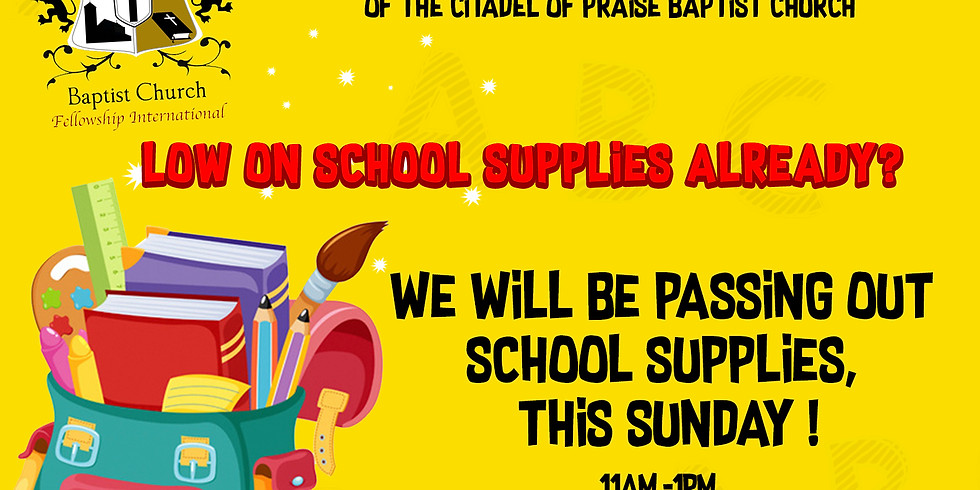 School Supply Giveaway