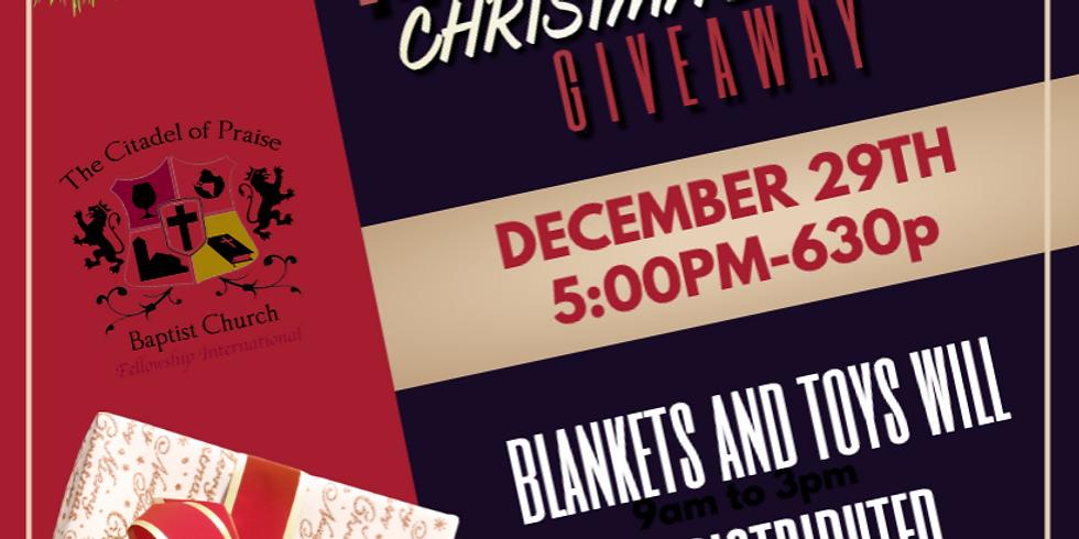 Christmas Bag giveaway