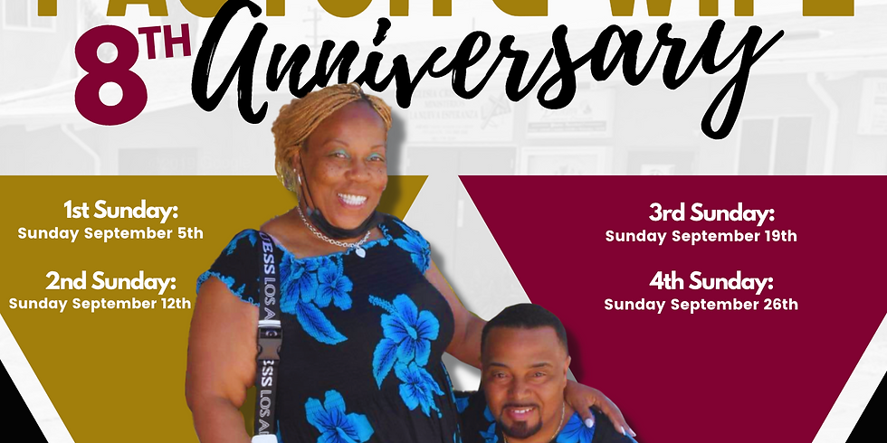Pastor and Wife's 8th Anniversary