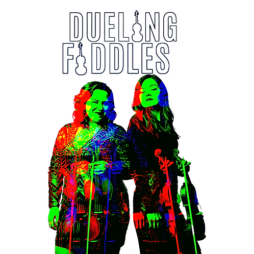 Dueling Fiddles' 2x2 Sticker