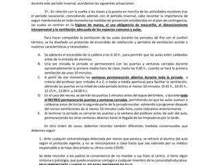 NORMAS GENERALES DE APLICACIÓN DURANTE EL 2º TRIMESTRE