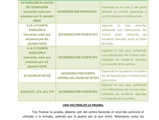 PROTOCOLO MEDIDAS FRENTE A LA COVID19 - EXÁMENES SEPTIEMBRE 2020