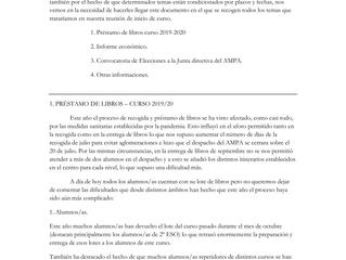 COMUNICADO DEL AMPA DEL IES FELIPE DE BORBÓN 9/12/2020