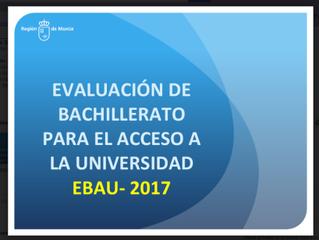 Información para la EBAU (Selectividad)