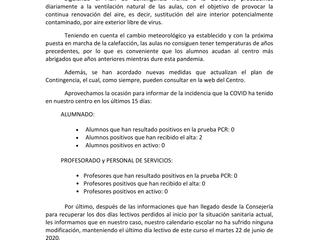 COMUNICADO EMITIDO A LAS FAMILIAS 30-11-2020