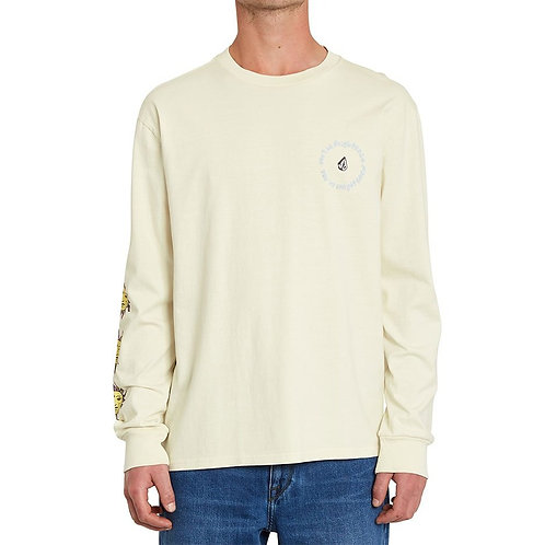 VOLCOM OZZY WRONG L/S TEE OFF WHITE