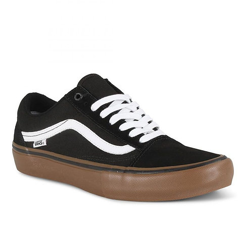 VANS OLD SKOOL PRO - BLACK/WHITE/MEDIUM GUM*