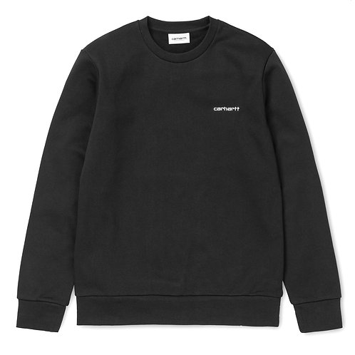 CARHARTT EMBROIDERY SCRIPT SWEATSHIRT - BLACK