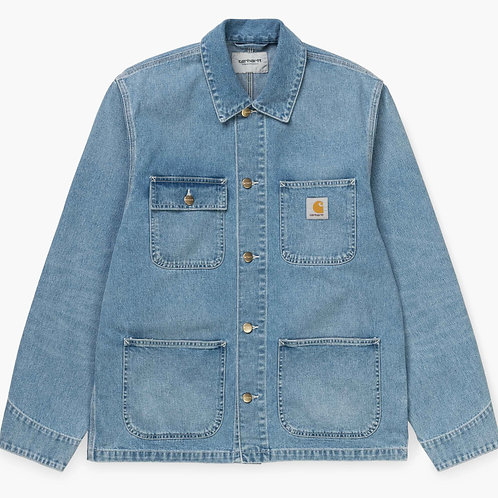 CARHARTT MICHIGAN COAT - BLUE WORN BLEACHED