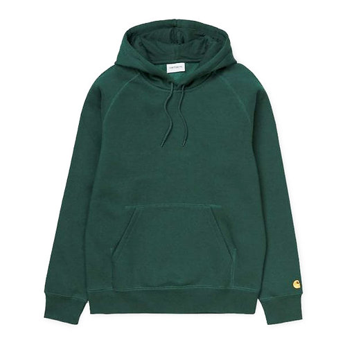 CARHARTT HOODED CHASE SWEAT - DARK/FIR GOLD