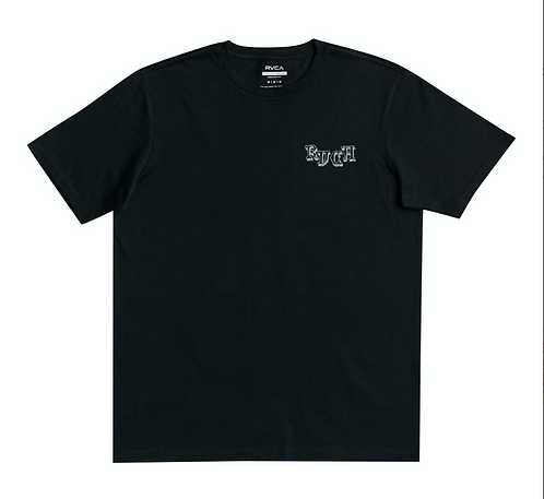 RVCA SKELETION WALK T SHIRT - PIRATE BLACK