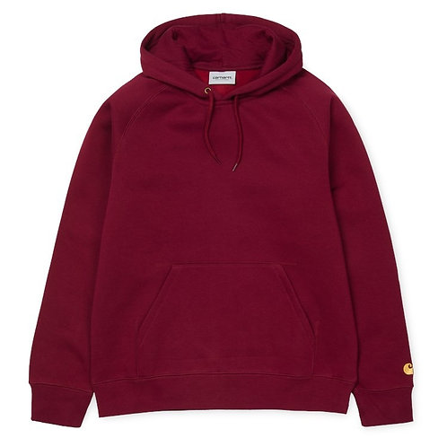 CARHARTT HOODED WOMAN CHASE SWEAT MULBERRY/GOLD