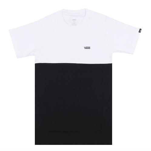 VANS COLORBLOCK T SHIRT - BLACK/WHITE