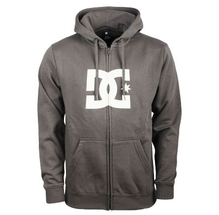 DC STAR FULL ZIP HOOD - GREY