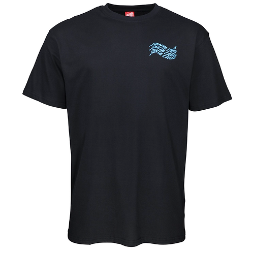 SANTA CRUZ VORTEX  T SHIRT - BLACK*
