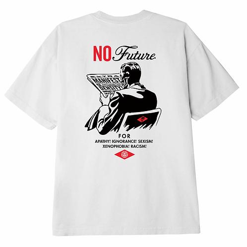 OBEY NO FUTURE TEE WHITE