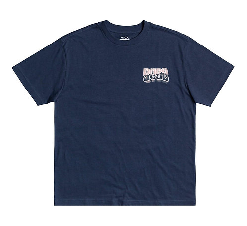 RVCA ADRESTIA T SHIRT - MOODY BLUE.