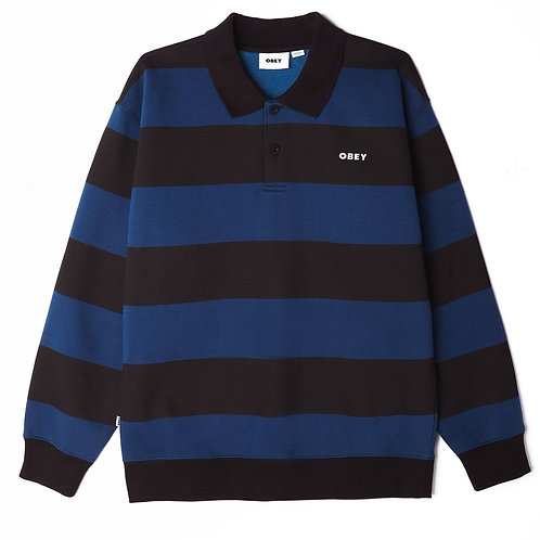OBEY ASHMORE POLO - BLACK BLUE