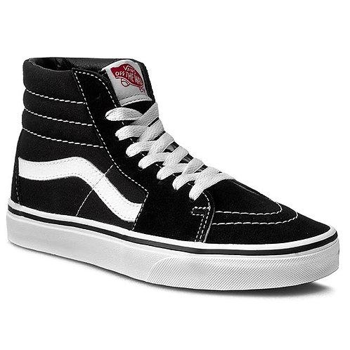 VANS SK8 HI - BLACK BLACK WHITE