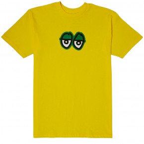 KROOKED  EYES T SHIRT - YELLOW GREEN