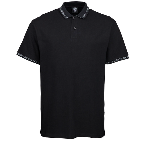 SANTA CRUZ UNDERCOVER POLO TOP - BLACK